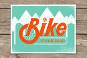 Image of Bike There - Artcrank Denver 2012 Screen Printed Bike Poster