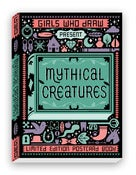 Image of Girls Who Draw - Mythical Creatures Postcard Book