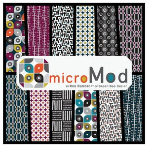Image of microMod 1/2 yard Fabric Stack