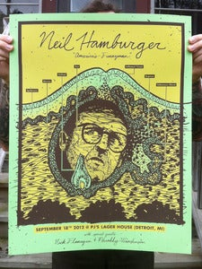 Image of Neil Hamburger - Screenprinted Poster