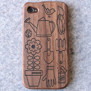 Image of Wooden iPhone Case - Gardening
