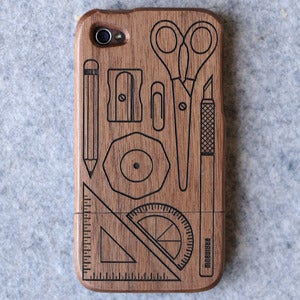 Image of Wooden iPhone Case - Stationary