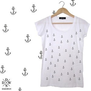 Image of T-shirt femme semis pattern ancre by Dadawan