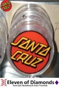 Image of Santa Cruz Grinder Magnetic Clear with classic red dot logo