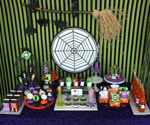 Image of Halloween Glam Haunted House party printables