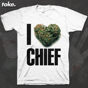 Image of Toke - I HEART CHIEF - Tee