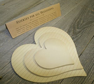 Image of Sticky Pad Hearts~Set of 3