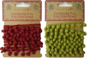 Image of Christmas Fun Pom Pom Braid