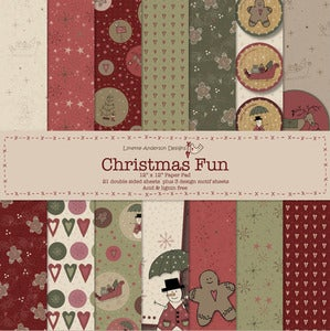 Image of Christmas Fun Scrap Book Paper
