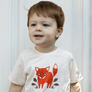 Image of Foxy Fox Short Sleeve Organic Toddler Tee