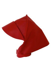Image of Red leather rain bonnet + colors