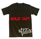 Image of Afro-Punk Tee 1, Black w/ White Logo