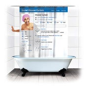 Image of SOCIAL MEDIA SHOWER CURTAIN