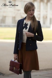 Image of Miss Patina British Dandy Girl Blazer (Navy)