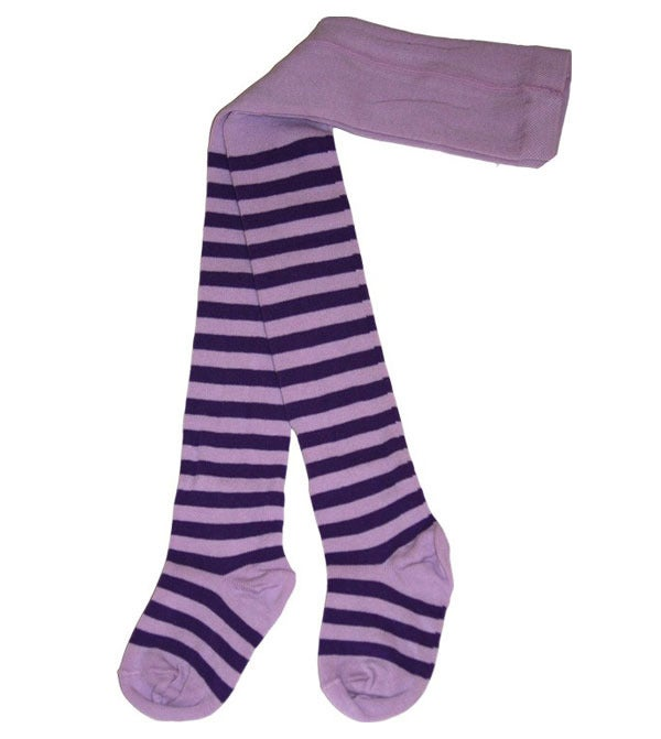 Image of Juliet Tights - Purple/ Dark Purple Stripes
