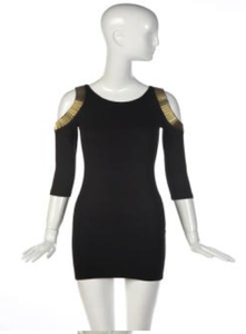Image of Gold Love Dress