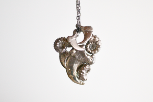 Image of Ammonite Claw Spirit Necklace