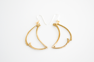 Image of Bone Crescent Earrings