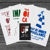 Image of Stand Up (set of 4 stenciled prints + stencil)
