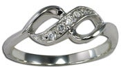 Image of  Infinity Cz Sterling Silver Ring , Promise,Forever, Together, Anniversay, Purity , Wedding Ring