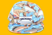 Image of Orchard Brand Off The Hook Blue Text Logo 5 Panel