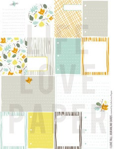 Image of I LOVE FALL Printable PDF Journal Cards