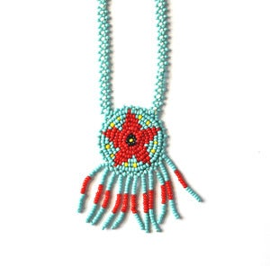 Image of Vintage Navajo Beaded Necklace (v5)