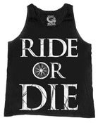 Image of PRE-ORDER : RIDE OR DIE / Black Tank Top