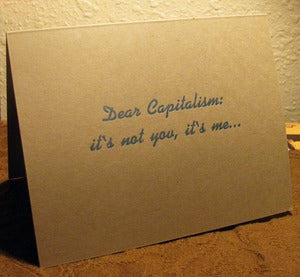 Image of 'Dear Capitalism..' Card