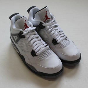 Image of Nike Air Jordan 4 White Grey Cement