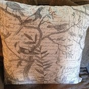 Image of Bird Script Pillow