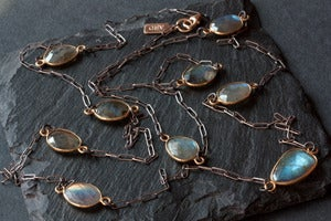 Image of Long Labradorite Necklace-mixed metal