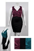 Image of Wine Woven Top Dress Plus Size