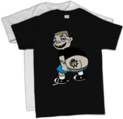 Image of 'Moon' Character T-Shirt (Black or White) SALE!