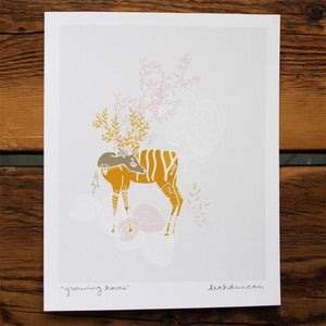 Image of Growing Horns Print 8 x 10