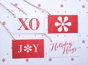 Image of Letterpress Gift Tags, set of 8