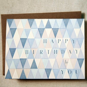 Image of Triangles Happy Birthday note