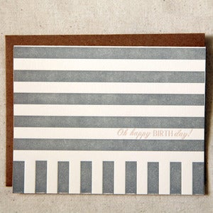 Image of Stripes Happy Birthday note