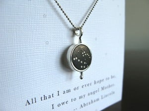 Image of Mother and Child Pendant ~ Big and Little Dipper Constellations