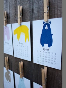 Image of 2013 Bear Calendar by Gingiber