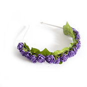 Image of Not A Lotta Rosie Headband - Aubergine