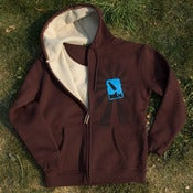 Image of Bomb Flow Winter Sherpa Hoodie / Dark BROWN! ON SALE NOW.
