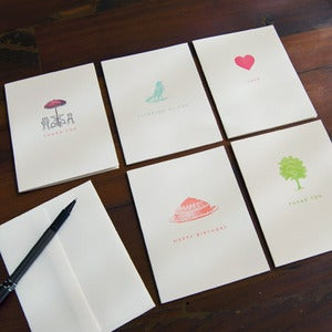 Image of Little Still Life Notecard Set - Brights