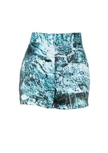 Image of EVOLUTION Turquoise Digital Print Shorts