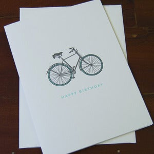 Image of Bike Painted Scene Card