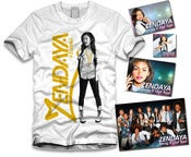 Image of Zendaya Gold Sticker Package White
