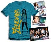 Image of Zendaya Gold Sticker Package Turquoise