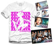 Image of Zendaya Jumping Sticker Package White