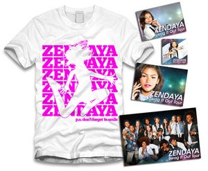 Image of Zendaya Jumping Sticker Package White