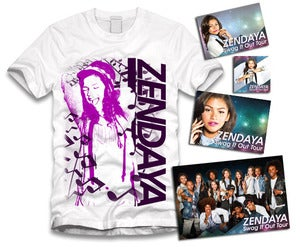 Image of Zendaya Music Sticker Package White/Purple